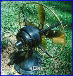 Antique 13 Westinghouse BRASS both Blade & Cage Electric Fan