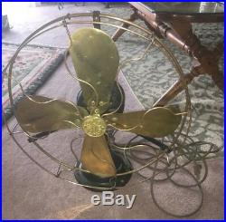 Antique 16 Ge Brass Fan Type Auu- Form V1-works Great Rare Circa 1919 Only