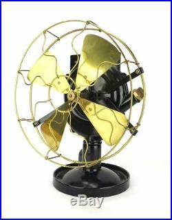 Antique 1890's 12 Backus Water Non-Electric Motor Brass Fan