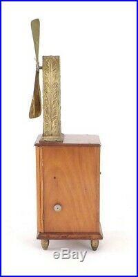Antique 1890's Zephyr Tall Clockwork Brass Fan Paris Non-Electric
