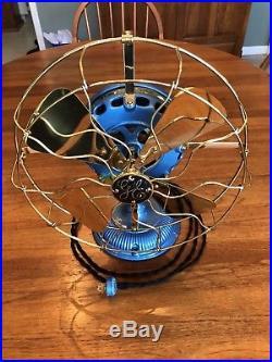 Antique 1900 GE Pancake Fan. Restored