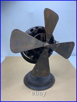 Antique 1900's General Electric Pancake Motor Desk Fan 12 Brass