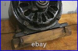 Antique 1900s Colonial Fan & Motor Co Brass Blade Fan Pancake Motor parts repair