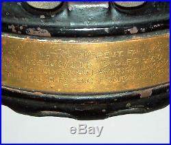 Antique 1900s GE Electric Fan Type AK Form C Ribbed Base Pancake June 25 1901