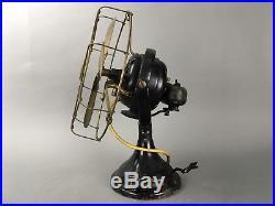 Antique 1901 GE Kidney Oscillator Brass Blade Fan