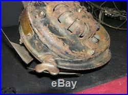 Antique 1901 GE Pancake Motor Fan Parts #51104 AC Type 4 Brass Blade U1 Form E9