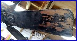 Antique 1901 Rare General Electric OAK LEAF CEILING FAN for Restoration WORKS