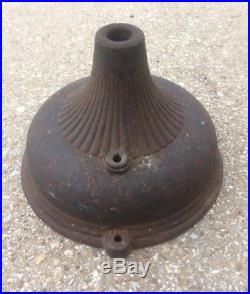 Antique 1903 -1905 General Electric GE Half Flute Pancake Desk Fan OEM Cast Iron