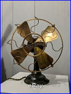 Antique 1909-1910 Solid All Brass Western Electric 8 Fan