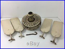 Antique 1910s Emerson Electric Ceiling Fan Ornate 52 Cast Iron Original USA
