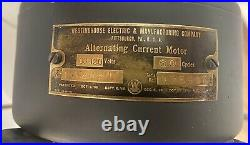 Antique 1910s WESTINGHOUSE 6 Blade BRASS 15 Desk FAN Style #162631P