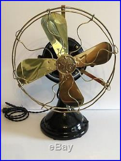 Antique 1911 GE 12 BMY BB/BC General Electric Fan RESTORED