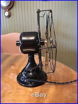 Antique 1915 1917 GE 9 Brass Blade 2 Speed General Electric Fan RESTORED