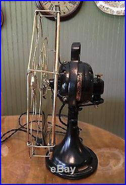 Antique 1918 GE 16 Brass Blade Cage Oscillating General Electric Fan RESTORED
