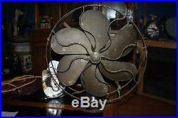 Antique 1920-1922 Emerson Type 27668 16 Brass 6-Blade Electric Oscillating Fan