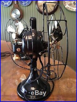 Antique 1920 GE 12 Brass Blade General Electric Brass Bell Oscillator RESTORED