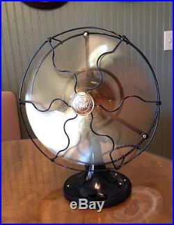 Antique 1920 S Ge Whiz 9 Brass Blade General Electric Fan