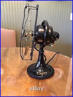 Antique 1920's GE Whiz 9 Brass Blade General Electric Fan RESTORED