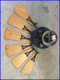 Antique 1920s 30s Emerson Electric Ceiling Fan 32 6 Blade from Fort Worth, TX