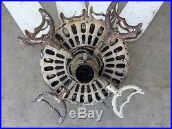 Antique 1920s Electric Ceiling Fan W Adjustable Blades HUNTER FAN and MOTOR CO