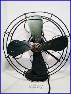 Antique 1920s Fan GE Oscillating 16 AOU AK1 75425 Loop Handle Industrial WORKS