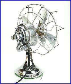 Antique 1925 ALL CHROME 12 Westinghouse Desk Fan