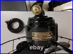 Antique! 1925 Westinghouse 16 3 Speed Oscillating Desk Fan 321347 Refurbished