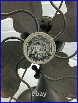 Antique 1930's Emerson Electric Fan 10 Oscillator Type 2250 B