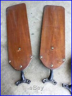 Antique 1930s 40s Emerson Electric Ceiling Fan W Blades from St. Louis, MO Deli