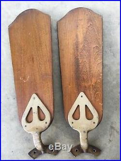 Antique 1930s Electric Ceiling Fan W Blades 36 Robbins and Myer's Patina Works