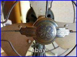 Antique 1930s General Electric GE 3-Blade 12 Metal Fan 2-Speed Oscillating
