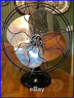 Antique 1934-35 GE 12 Quiet Blade Oscillating General Electric Fan RESTORED NR