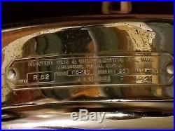 Antique 30's-40's Hunter Ceiling Fan R52 -Nice Blades! Motor works