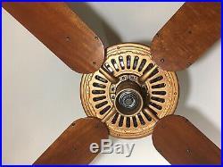 Antique 52 Emerson Longnose Ceiling Fan Copper and Satin Black 1920s Beautiful