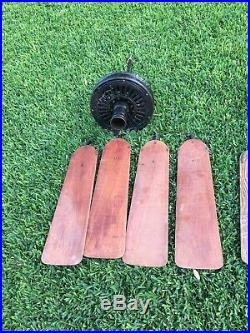 Antique 56 Emerson Long Nose Longnose Ceiling Fan Cast Iron Vintage