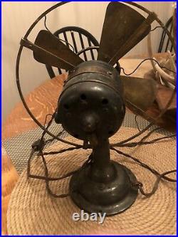 Antique 8 all-brass Westinghouse 98926a Fan Circa 1909