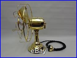 Antique 8 brass Westinghouse fan restored vintage 1910 3 speeds runs great