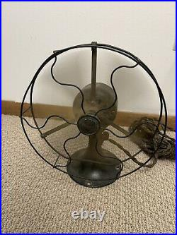 Antique 9 General Electric Whiz Brass Fan Working/Original Cord