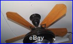 Antique Art Deco Ceiling Fan Vintage Robbins & Myers Springfield Ohio 1930's