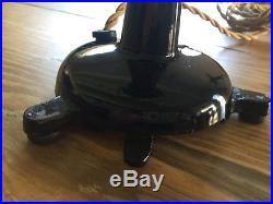 Antique Brass Blade Menominee Electric Bank Teller Vertical Fan
