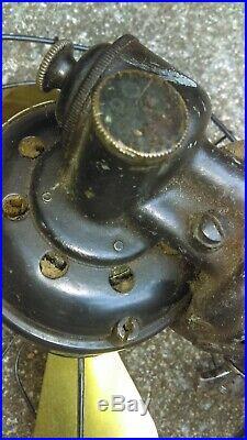 Antique Brass Blade Westinghouse Electric Fan - for restoration - 12 man cave