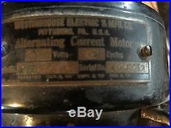Antique Brass Blade Westinghouse Fan 1910