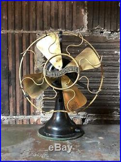 Antique Brass/Iron Westinghouse Variable Speed Table Fan cir. 1912