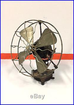Antique Brass cage, brass blades trunnion EMI electric fan