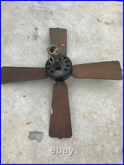 Antique Cast Iron Emerson Electric Ceiling Fan Type 84641 Motor