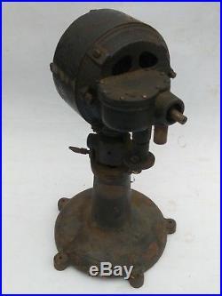 Antique Cast Iron Fan Motor Base Colonial Motor Company Early 1900's Warren Ohio