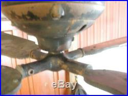 Antique Cast Iron Robbins & Myers 57 110 Volt DC Ceiling Fan