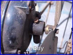 Antique Century S3 16 Inch Brass Blade Model 154 Oscillating Fan Untested