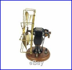 Antique Circa 1900 All Original 8 Richmond Portable Battery Brass Fan