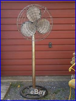 Antique Diehl Electric Fan Industrial 9 Ft Factory Floor Stand Fan 10 Blades